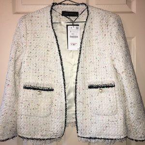 Zara cream colored blazer